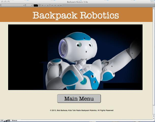 Backpack Robotics, Bob Barboza, Kids Talk Radio