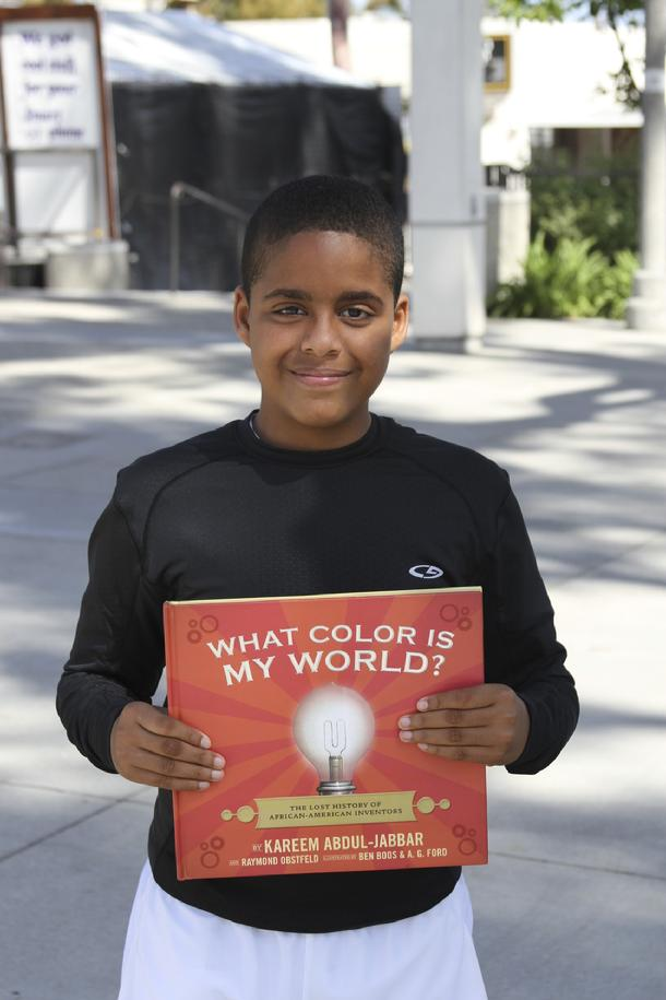 Kareem Abdul-Jabbar, What color is my world? Student Inventors at Kids Talk Radio, Bob Barboza